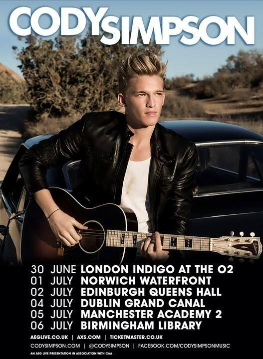 .@CodySimpson returns to the UK this summer for a short headline tour. Tickets from £18.50 http://t.co/NY7ZMmCwJo http://t.co/VG8ez35UYj