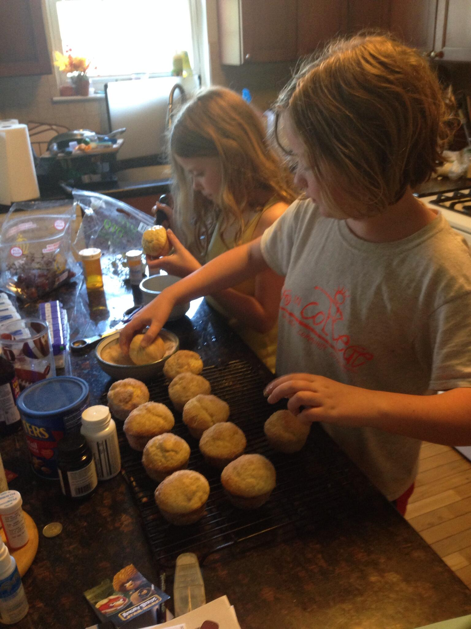 RT @mikehamiltonWP: @TestKitchen Muffin-tin doughnut assembly line for Mothers Day. http://t.co/o54UeHRU8P