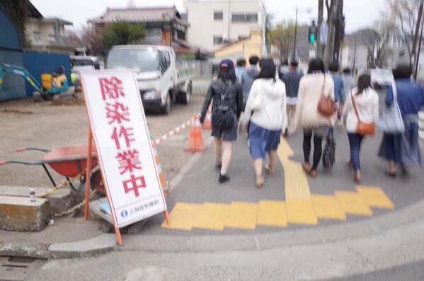 100年後の友人がこの街に来たら、 どこを撮るだろうか。 20140420福島市8 http://t.co/5iZFEIbuUJ