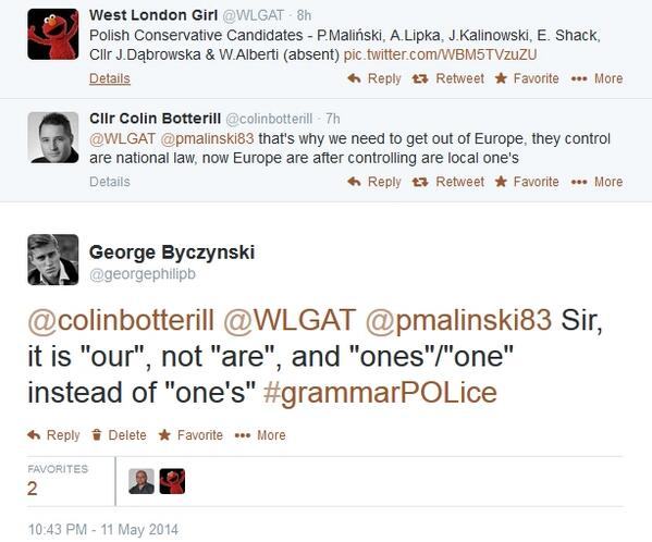 UNPARALLELED JOY RT @FelicityMorse: Bloody Polish: coming here and teaching us English. Vote Ukip, stop this outrage http://t.co/0aH9vxDeT5