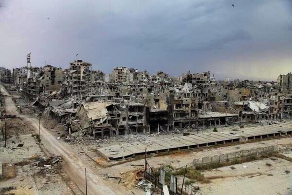 Hiroshima after the bomb? Dresden after the firestorm? No, Homs today. The #Syria that Assad is fighting for. http://t.co/IP1rtoOCeb