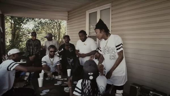 Homie in Wiz Khalifa 'We Them Boyz' video rocking our Kush Groove 'Slow N Steady' T Shirt #KushGroove http://t.co/mF0TRQjObu