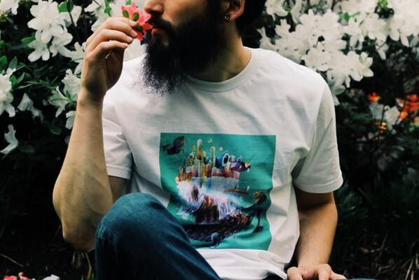 Shots from today's shoot for @nosego (Yis Goodwin), His amazing paintings available as apparel. Model: @imsuperdope_ http://t.co/3CP3MaC2NF