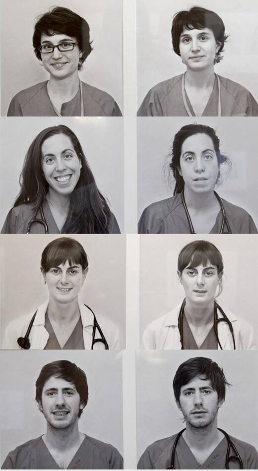 """""""The doctors are human"""" photos before/after 24 hours on duty by Leticia Ruiz http://t.co/sXEn5DjJeW HT @GoldCareInMed @Mamoudinijad"""