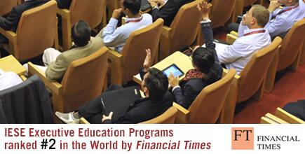IESE Ranked 2nd in the World http://t.co/i9za8SSsZW for Executive Education http://t.co/PrBHn8FaWi
