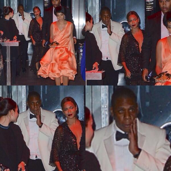 """@CheyLips: ""@YunggScar: Bruh what happened to Jay-Z & why BeYonce just stand there"" he got the hands http://t.co/7kOVvYLsoz"" lol she smilin"