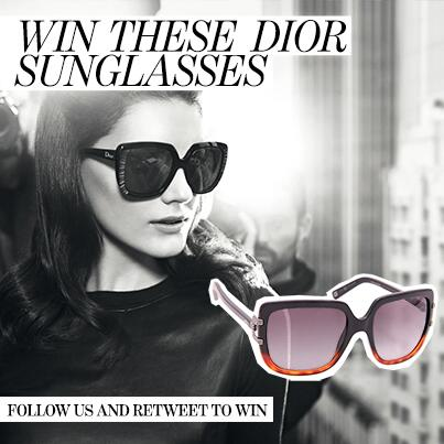 We've got a little treat for you! Follow us and retweet our pic and you can #win these stunning #Dior sunglasses http://t.co/ZYykAXct0a