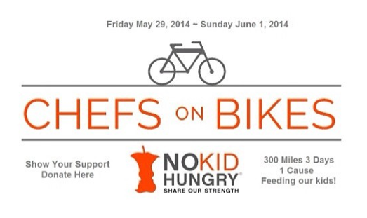^5 MT @ChefJasRoberts:  300 Miles  3 Days  1 Cause Support #ChefsRide4NKH http://t.co/Rot30v41np  @nokidhungry http://t.co/AJwaOssVNv