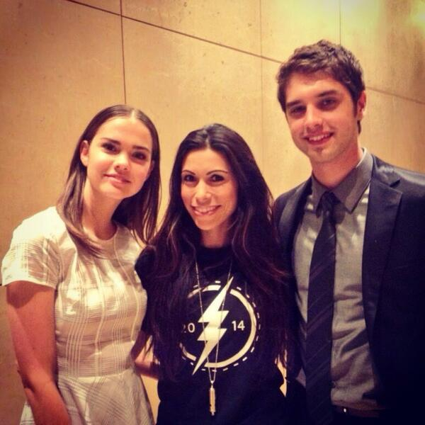 Hanging out with the cast from @TheFostersABCF at #Aeww :) @MaiaMitchell & @dglambert So talented! @LAGayCenter http://t.co/L24bXJcJ4N