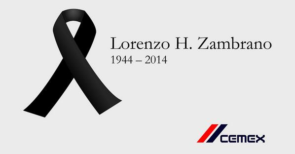 We regret to inform you of the passing of our Chairman and CEO Lorenzo H. Zambrano. http://t.co/uAVPwLbl11