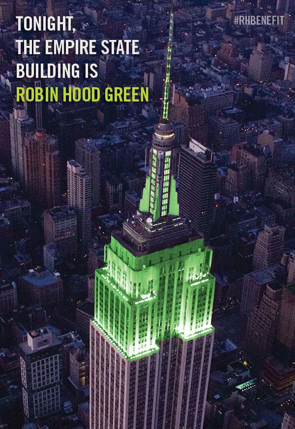 Look up at the green @Empirestatebldg in honor of the #RHBenefit! #povertytopossibility #NYC http://t.co/oWy1CTOtgJ