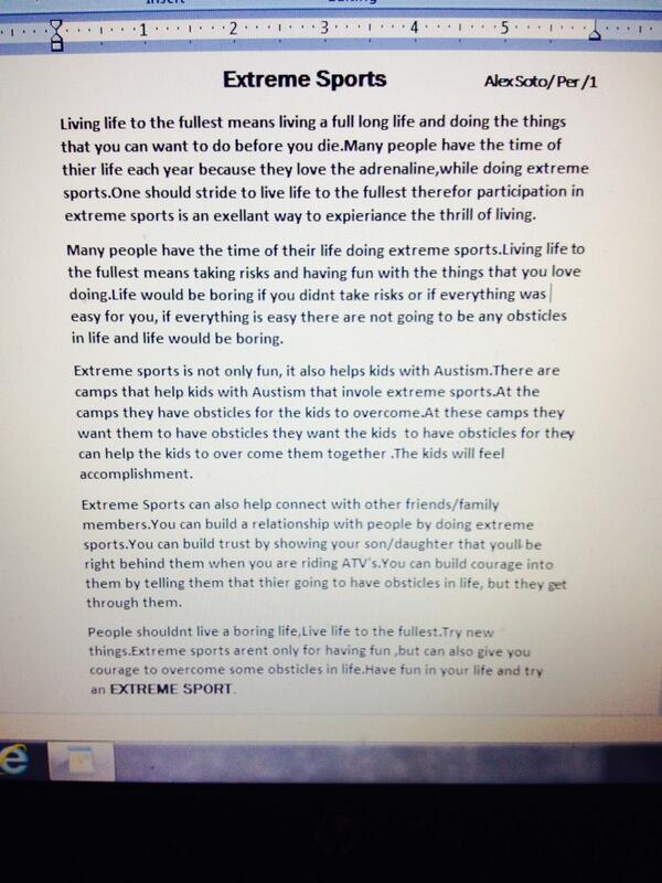 Write my adventure sports essay topics