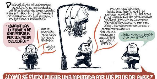 Hace poco en @eljueves enseñé a colgar diputadas (.../os) por los pelos del pubis #LímitesDelHumor #HemdAnarMésLluny http://t.co/vuG2TVlxfM