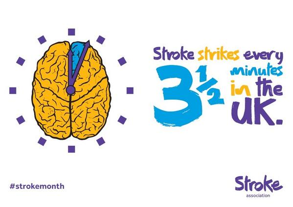 Today is European Stroke Awareness Day. In the UK, someone will have a #stroke every 3 ½ mins http://t.co/Av5EqrjOZ2 http://t.co/S4yIMQxDxl