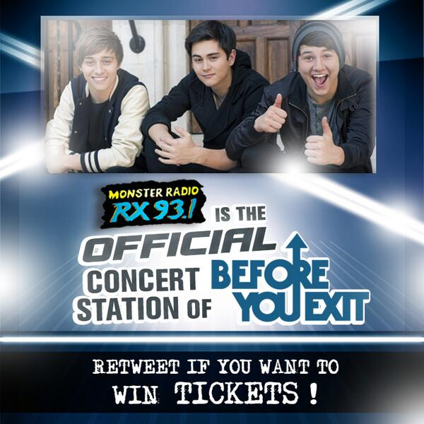 Retweet if you wanna win tickets to the concert of Before You Exit! We'll announce the winners on Friday! :D http://t.co/ezmfqShdmx