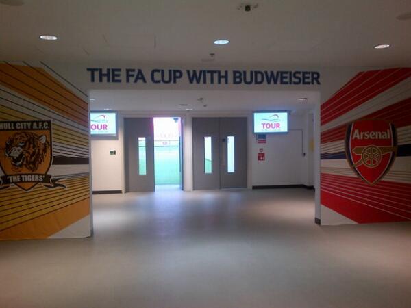 The scene is set... #FACup #hcafc #AFC http://t.co/zFdu593u5G