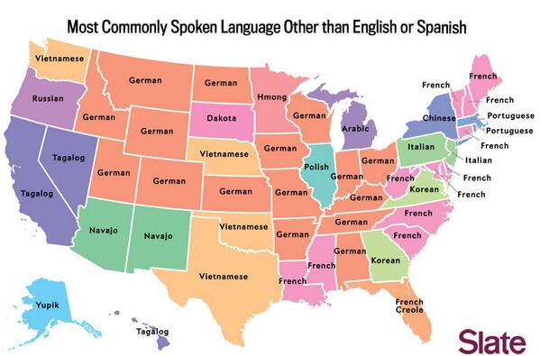 The US as you've never seen it before. Most commonly spoken language after English & Spanish via @Slate @tom_nuttall http://t.co/YuOZjsSaoY