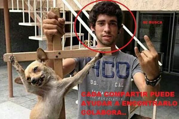 """""""@EnriquePablos: @LUJAN_AR ayuda a difundir para que pillen a este torturador http://t.co/3ZbWlDaaRv"""" Hijo de ... Que horror"""