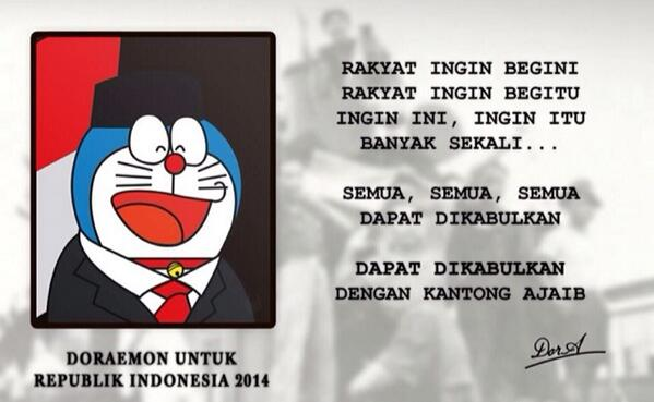 "lol ""@andienaisyah DORAEMON FOR RI-1 !! :D http://t.co/4rmI5fqI50"""