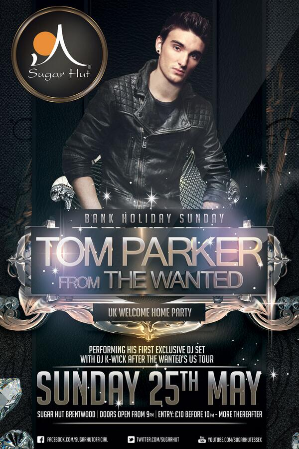 12 days & counting till @TomTheWanted's Official welcome home party! Ltd VIP tables available please call 01277200885 http://t.co/49KRmkx4yd