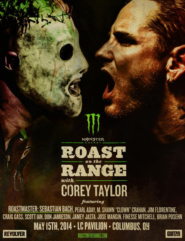 Only few tix left for @Revolvermag's Rock 'N Roll Roast of @CoreyTaylorRock this Thursday! http://t.co/pnWZ9wnBDL http://t.co/NVywj5LZjQ