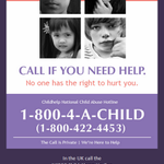 Call if you need help ~ Call if you know someone who needs help.  #StopChildAbuse  Stop it now. http://t.co/TYOsMccqk9