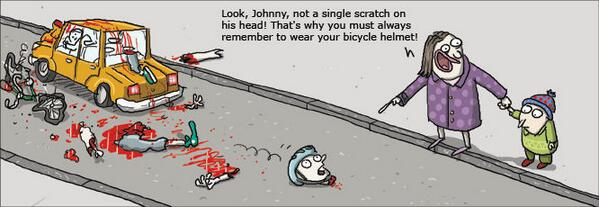 This may upset a few feeble zealots, but appropriate re: so many of these meaningless (kids) cycle safety campaigns http://t.co/R4x4NN2swI
