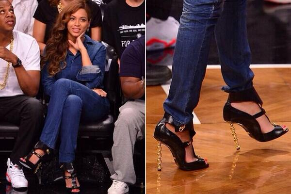Yeah, that she can afford Tom Ford. RT @NYPfashion: Is Beyonce sending a subliminal message with her stilettos? http://t.co/KONyevrWuk