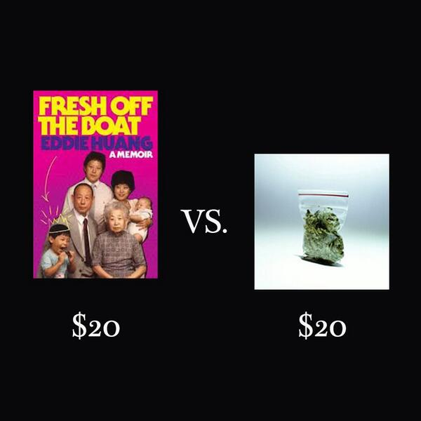 Don't buy weed for one day, spend $20 and celebrate the pick up of Fresh Off the Boat on ABC! http://t.co/qsQ3zDm5ZW http://t.co/HlOQhOqP78