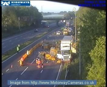 "motorway cameras on twitter: ""#m62 eastbound closed j11"