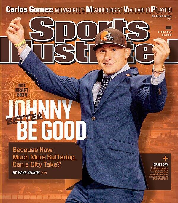 #Browns QB Johnny Manziel is on the cover of Sports Illustrated this week. http://t.co/SL4jOdpijL
