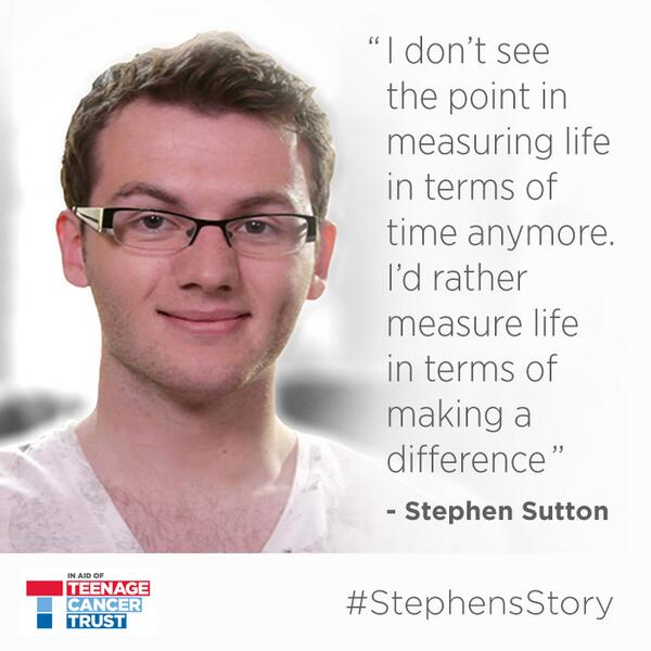 """I don't see the point in measuring life in terms of time. I'd rather measure life in terms of making a difference"" http://t.co/RzkfI327Vp"
