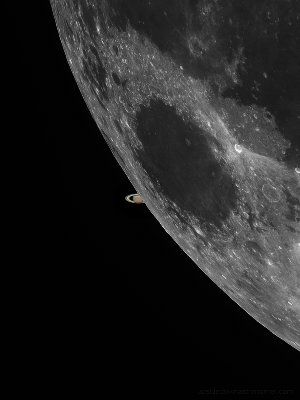 Beautiful shot! MT @astrostew: Moon Saturn Occultation composite, best I could do with cloud interference http://t.co/65vCndQ7PN