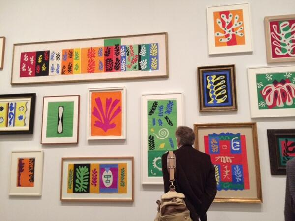 RT @SophieConran: Thank you @Tate for putting on such an amazing exhibition of Henri Matisse's cut outs. Truly inspired. X http://t.co/CAL8QUfN7T