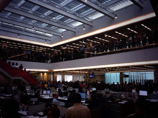 Stunned newsroom. http://t.co/dooXpAHJoR