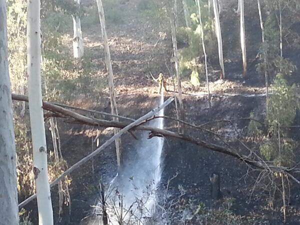 Scripps Ranch fire...dousing hot spots. @KUSI_News http://t.co/fFEBxBqsp9