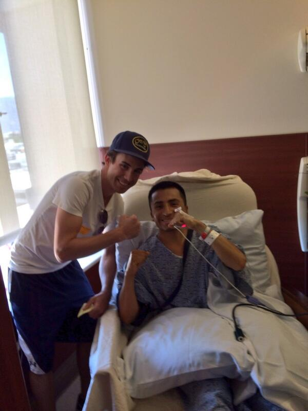 Visiting with @sambitoperu and wishing him a speedy recovery #Fighter http://t.co/KU2acsrpwV