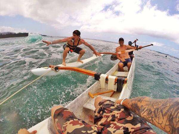 """""""@GeoffGulevich: @BrianLopes hangin on while Mike Day and i watch #gopro @GoPro #Hawaii http://t.co/9AUk0eckub"""" #GoPro"""