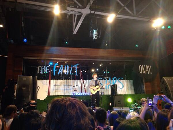 "@edsheeran performing ""All of The Stars"" @YouTube #TFIOSmusic @AtlanticRecords http://t.co/Sh11gaJqID"