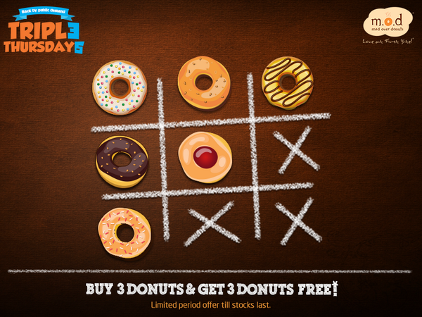 #Contest RT this tweet & stand a chance to win donuts at @MadOverDonuts #TripleThursdays T&C: http://t.co/lEmSonAT7C http://t.co/QN0XpNL7kn