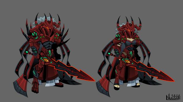 AQW Empress Gravelyn's Defender Armor. Had fun creating it. I animated cool characters from Rev in OS this week too! http://t.co/VJvRjvCd71