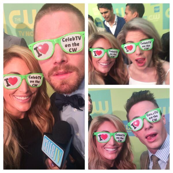 So much @CW_network #Arrow love! @amellywood @ColtonLHaynes @EmilyBett! #CWUpfronts http://t.co/MrCbF2910j