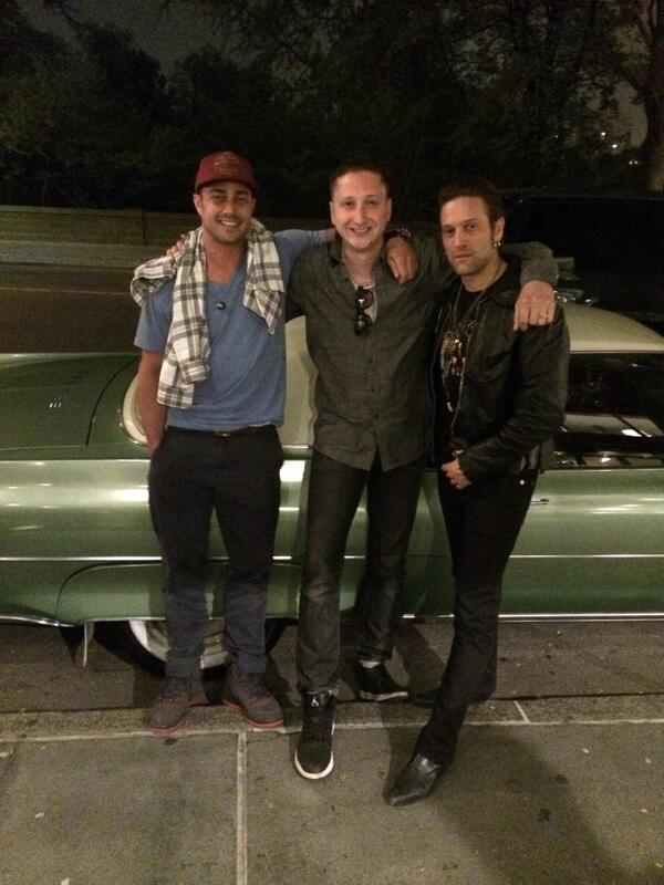 @TaylorKinney111 @BrianNewmanNY & Me styling & profiling in front of Newman's new whip #christine #nyc #cruising http://t.co/PdSmygU33x
