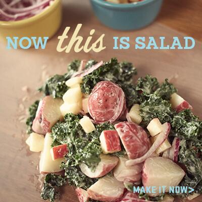 We did the math. Miracle Whip + kale + apple + potato = wicked delicious. See the recipe here. http://t.co/2KwiQsoPoZ http://t.co/kRmj1yPlRk