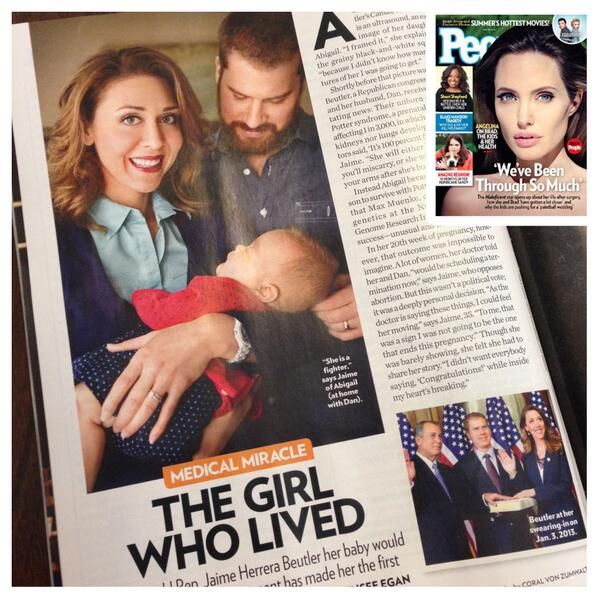 Check out the May 26th edition of @peoplemag for an update on Abigail Rose's story! http://t.co/z9nenRH9pI