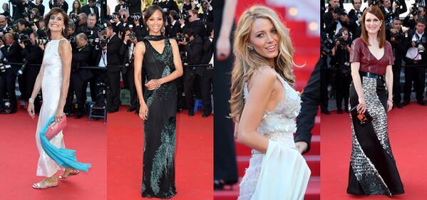 #Cannes2014 : @lafressange, #BlakeLively, #juliannemoore : @lorealparisfr en force ce soir ! http://t.co/ZGBT3lnKXo http://t.co/rPDwW9vNYY