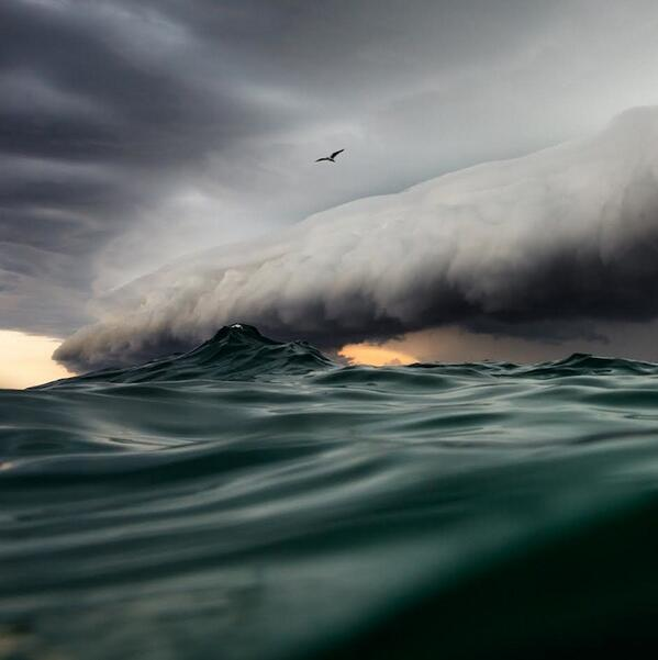 photographer Jem Cresswell, who swam out to sea to capture this spectacular shot. http://t.co/0BGXoeZSzT