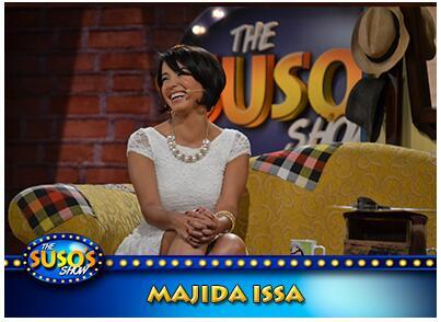 """Este domingo a las 8:00 pm @susoelpaspi estará con @MajidaIssa1 actriz que encarnó a la """"Ronca de oro"""" http://t.co/FznvUWbcsm"""