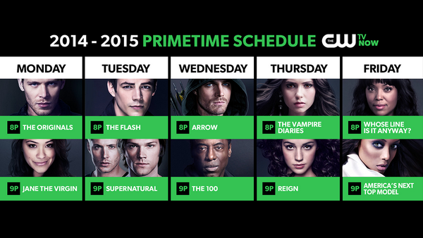 Check out the new lineup coming to The CW this fall! #CWupfront http://t.co/KyfcSc6eMA