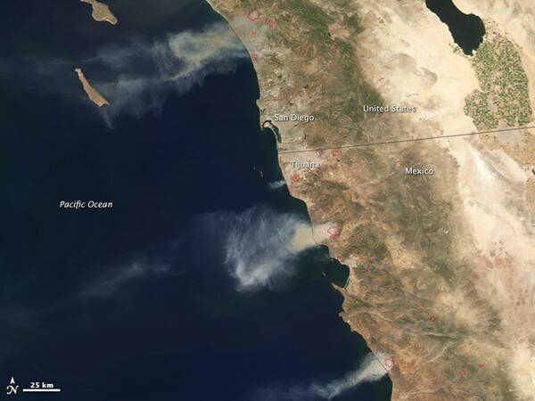 Wildfires in California http://t.co/GJU2PlgbfB #NASA http://t.co/cWw7O9RWM1